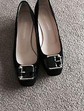 ARTIGIANO Black Suede & Patent Shoes Plus Dustbag..