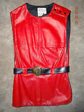 Vintage Womens Penney's International Imports Sz 16 Red Leather Top Vest