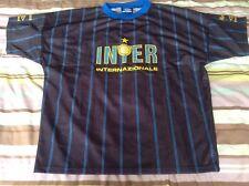 NUOVO senza etichetta adulto ORIGINALE INTER MILAN A Maniche Corte Football shirt jersey Medio NUOVO
