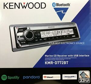 NEW Kenwood KMR-D772BT Marine Car Audio CD/AM/FM Receiver w/ Bluetooth