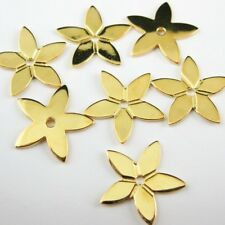 Star Charm,18K Gold plated over Sterling Silver Vermeil,15 mm Star (4 pcs)