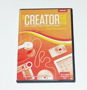Roxio Creator 2012 genuine software disc ~ Music ripping CD burning software