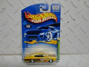 2001 Hot Wheels Treasure Hunt Yellow '67 Dodge Charger w/Real Riders