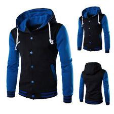 Men Winter Hoodie Outwear Sweater Warm Coats Baseball Jacket Hooded Sweatshirt