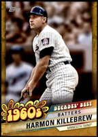 Harmon Killebrew 2020 Topps Decade's Best Series 2 5x7 Gold #DB-25 /10 Twins