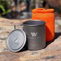 Titanium 750ml Pot with Lid -Ultra Lightweight - FREE Shipping
