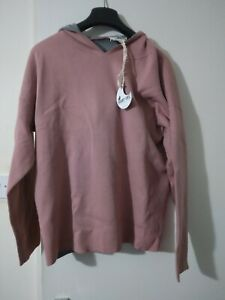 White Stuff RIA REVERSABLE HOODED KNIT Grey MLT Retails £55 Size M