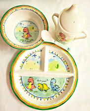 Baby Cie Dani Dinosaur Meal Set Melamine Baby Toddler Suction Bowl Sippy Cup
