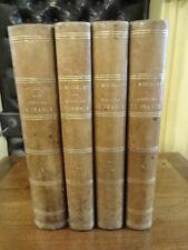 Histoire de France Jules Michelet Rouff 4 volumes Illustré Gravures