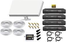 Sat Anlage 4 Teilnehmer Selfsat H30D4 Antenne +HD Receiver Alles Dabei !!!