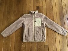Uniqlo Beige Fluffy Yarn Fleece Full Zip Jacket XS NWOT