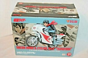 NEW IN BOX TAKESHI HONGO &CYCLONE VER.2 TRASFORM 1/12 SCALE POLYSTONE MODEL