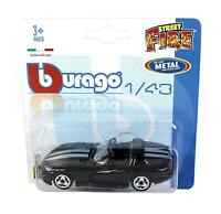 Burago 1/43 Diecast Model Car - Dodge Viper Convertible in Black - 'Street Fire'