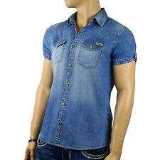 REDBRIDGE by CIPO & BAXX Herren Jeans Hemd kurzarm Clubwear Party Shirt RB 4005