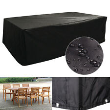 Black Large Furniture Cube Cover Outdoor Garden Waterproof Heavy Duty 6  Seater Part 65