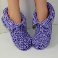 KNITTING KNITTING INSTRUCTIONS- ADULT CHUNKY SLIPPERS KNITTING PATTERN