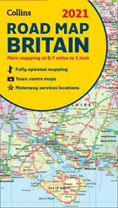 Collins 2021 Road of Map of Britain   *FREE P&P*