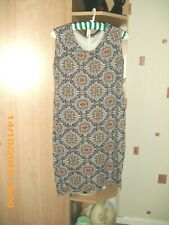 orange/navy mix  dress womens size XXL