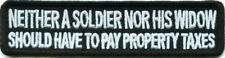 Soldier Nor His Widow Pay Tax Military Biker POW Vet Veteran Vest Patch PAT-1687