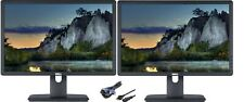 """Lot of Two"" Dell P1913t /P1913b 19"" Widescreen 1440x900 LED Backlit LCD Monitor"
