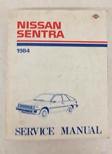 OEM 1984 Nissan Sentra B11 Series Auto Service Manual Satisfaction Guaranteed