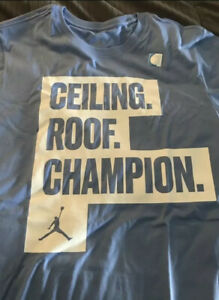 UNC Tar Heels Ceiling Roof Champion Jordan T-Shirt, Mens XL Limited Edition
