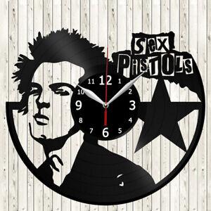 Sex Pistols Vinyl Record Wall Clock Decor Handmade 2450