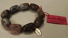 Lola  Rose Chunky Oscy Stretch Bracelet Grain agate New & Tags