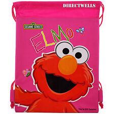 Elmo Sesame Street Authentic Licensed Pink Drawstring Bag School Backpack