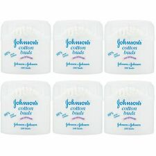 6 Pack Johnson's Baby 200 Cotton Buds 100% Pure
