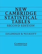 New Cambridge Statistical Tables New Paperback Book D. V. Lindley, W. F. Scott