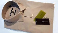 BCBG NWT 15.5 M Modern Fit Men's Long Sleeve 34/35 Cotton Shirt Color Alabaster
