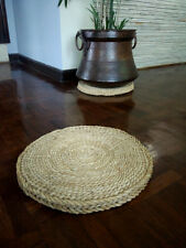 Lot of 4 Size 44 cm in Diameter Nepali Hay Mat sukul Handmade natural straw mat
