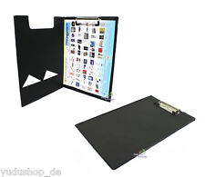 Klemmbrett Schreibplatte mit Innentasche Bügelklemme A4 schwarz