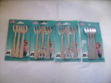 """Lot de 12 fourchettes à huitres en inox """"Martine"""" longueur 13 cm neuves emb."""