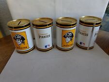 Vintage Pittsburgh Pirates Cooperstown Coin Banks 1984 Lot of 4 Cans Old School