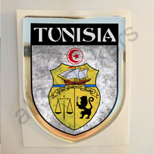 Tunisia Sticker Coat of Arms Resin Domed Stickers Adhesive Flag Grunge 3D Car
