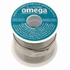 Warton Metals Omega 63/37 Low Residue 1% Flux Solder Wire 22SWG 0.711mm 500g
