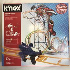 Mecha Strike K'nex Motor Thrill Rides Roller Coaster Building Set 577 pieces New