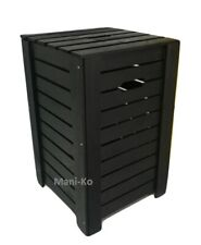 Wooden Black Baskets Dirty Clothes Laundry Washing Box Bathroom Bedroom Chest
