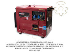 Powermate  PMD 5000s Gruppo Elettrogeno Generatore di Corrente con 4 Ruote Disel