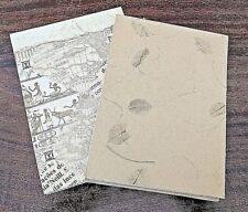 notebook - memo notebook - handmade with recycled paper - set of two notebooks