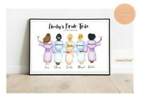 A4 Bride Tribe Bridal Party Personalised Print Hen Do Gift Wedding PRINT ONLY