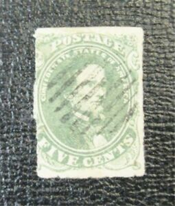nystamps US CSA Confederate Stamp # 1c Used $200   J15x1308
