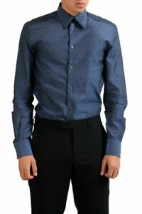 "Versace Collection ""Trend"" Navy Patterned Men's Dress Shirt Sz 14 1/2 15 15 1/2"
