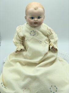 Antique Reproduction, Vintage, Cubby Baby Doll Fine Bisque Porcelain