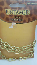 "Horizon Untamed Gold Toned 24"" Chain"