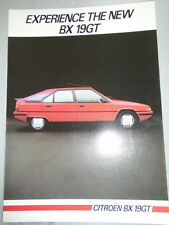 Citroen BX 19GT brochure Aug 1984