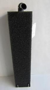 HMF Filter für Beckenhöhe 50 cm PPI 30 mittel schwarz mit  25mm ØLuftheber