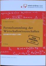 Schröder: BWL Formelsammlung der Wirtschaftswissenschaften
